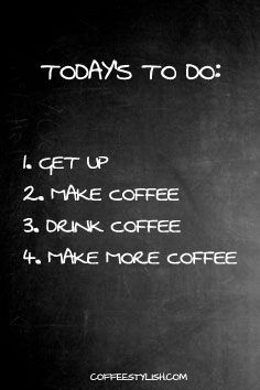 Coffee To Do List