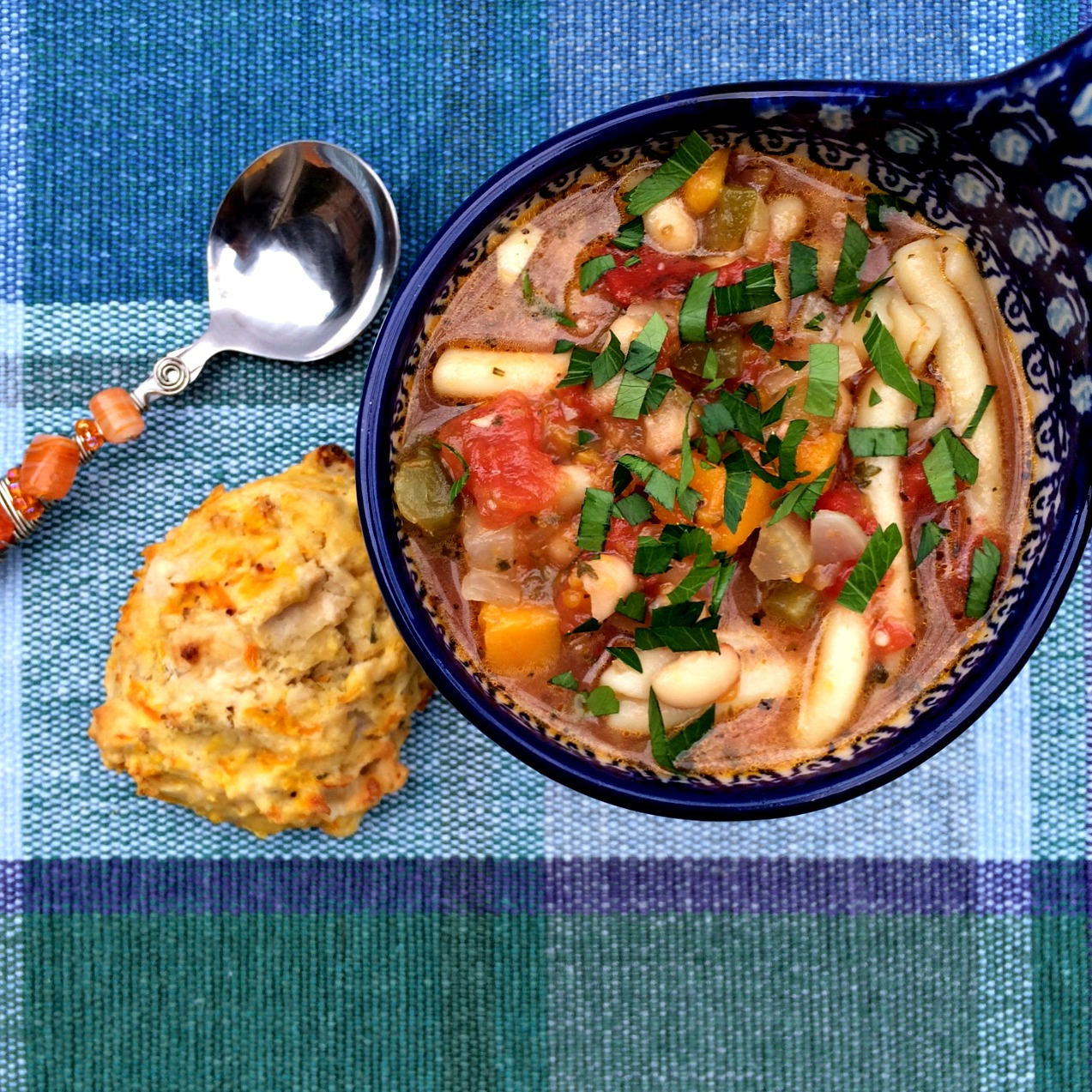 Minestrone Soup and Biscuits