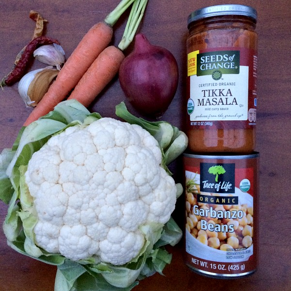 Slow Cooker Cauliflower Masala Ingredients