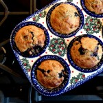 Banana Blueberry Buttermillk Soaked Oat Muffins