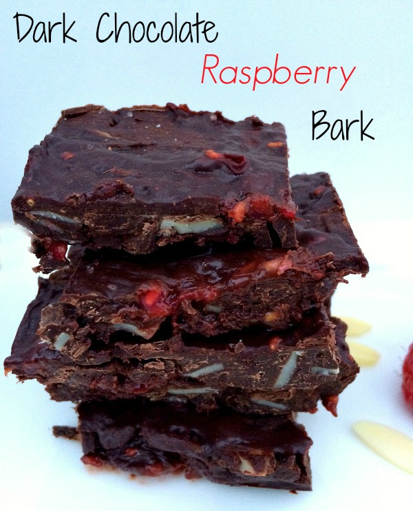 Dark Chocolate Raspberry Bark with Sea Salt