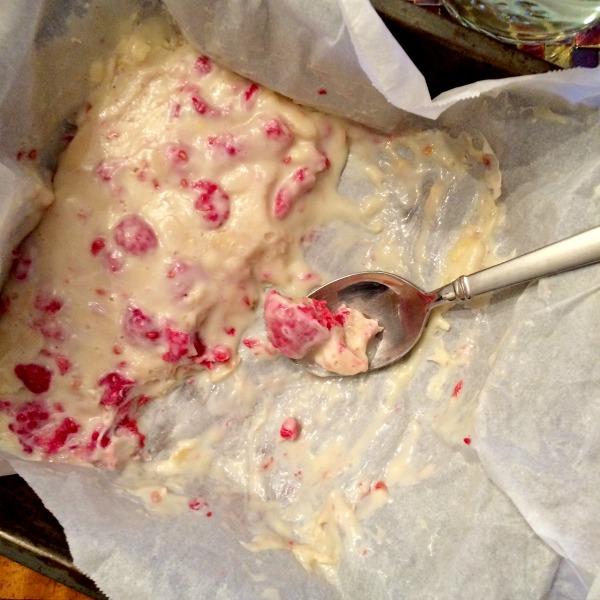White Chocolate Raspberry Bark