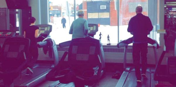 Family Running on Treadmills