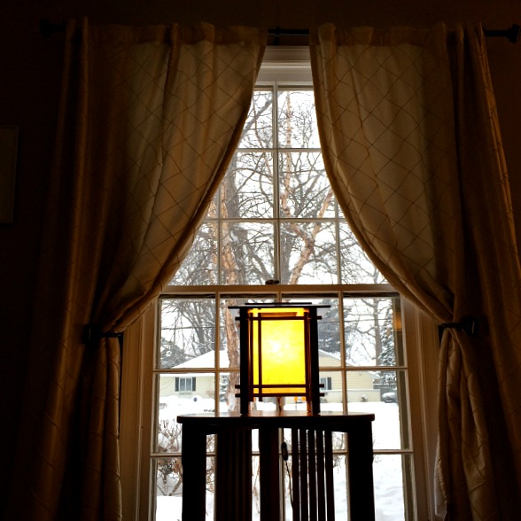 Front Window, Curtains and Light