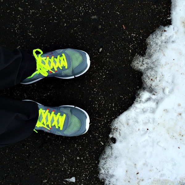 Sneakers and Snow