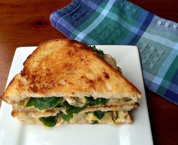 Artichoke Dip Grilled Cheese
