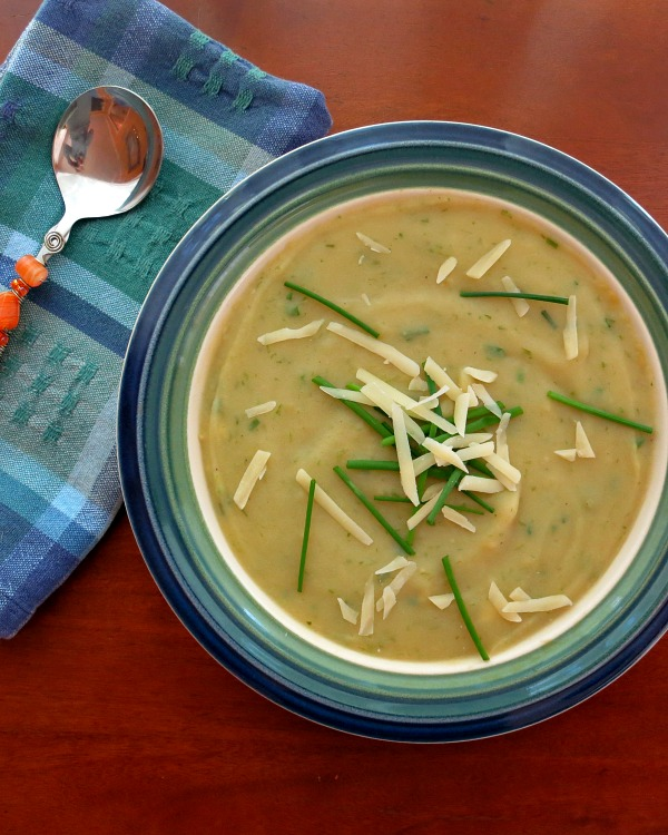 Creamy Potato Ramp Soup