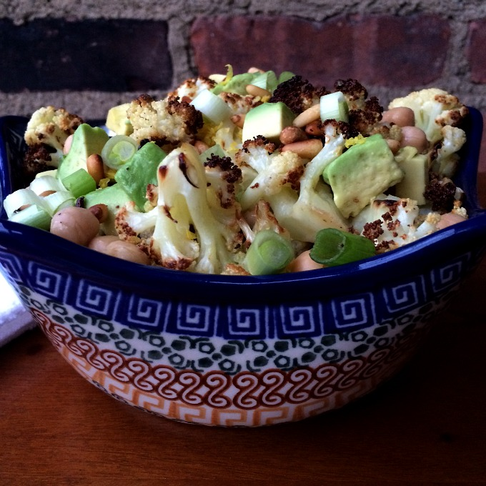 Cauliflower Chickpea Avocado Salad