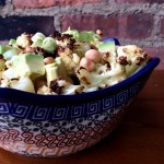 Roasted Cauliflower Chickpea Avocado Salad