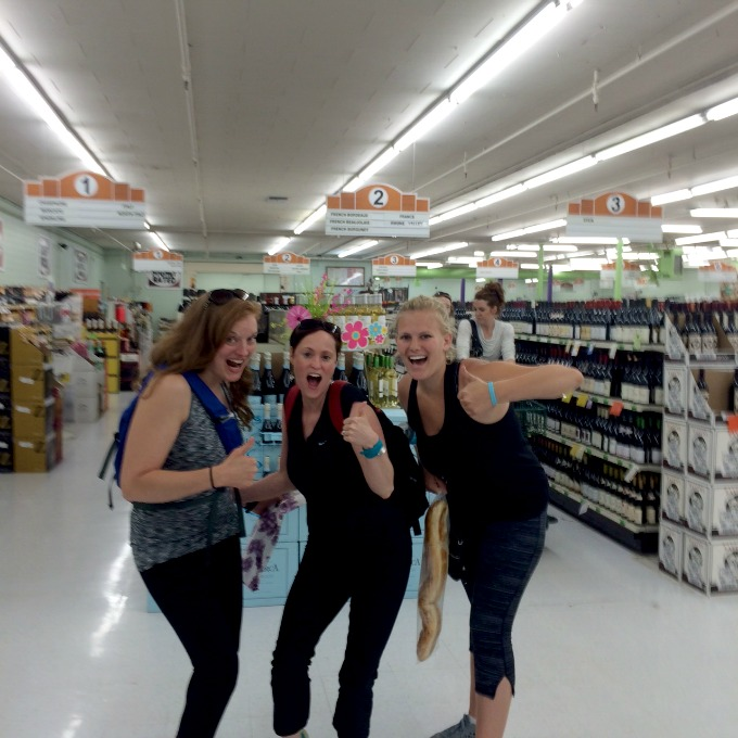 Heather, Meg and Carly at the Liquor Store Blend 2015