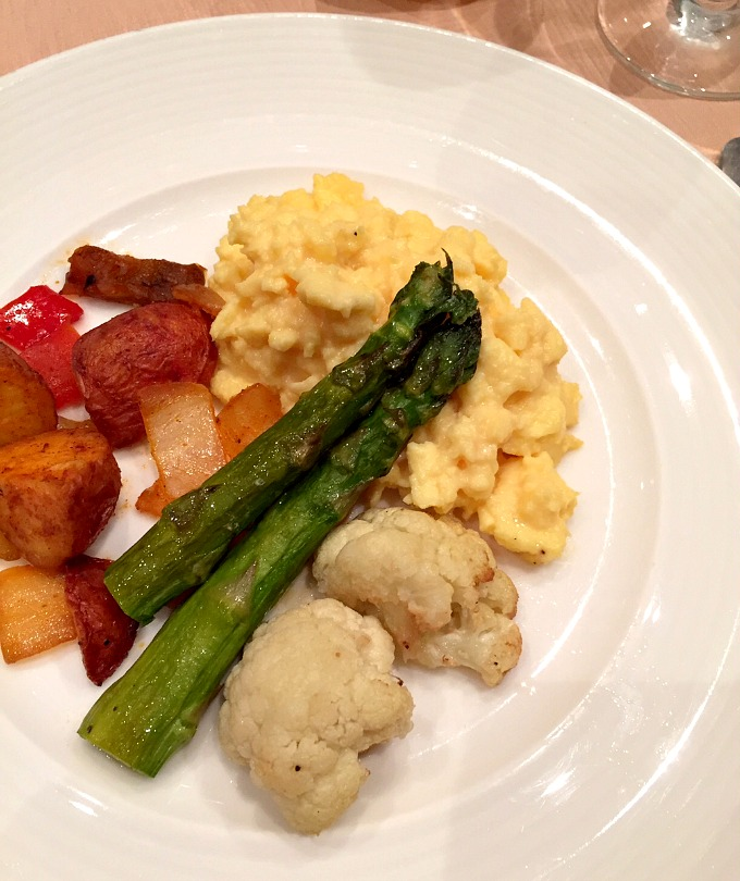 Vegas Breakfast Eggs, Asparagus, Cauliflower and Potatoes