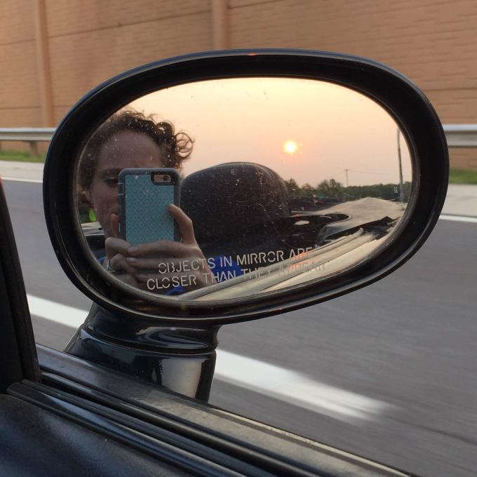 Convertible Car Selfie