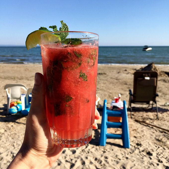 Watermelon Mojito on the Beach