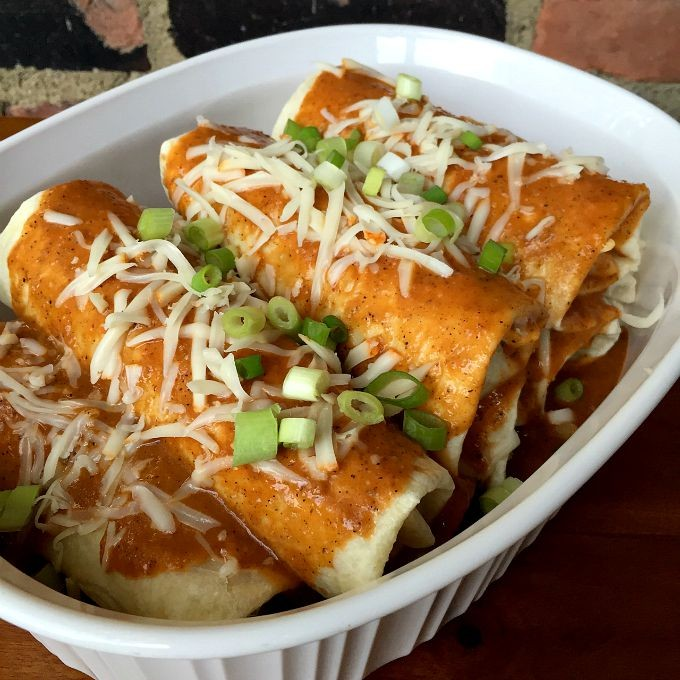 Cabbage Stuffed Enchiladas