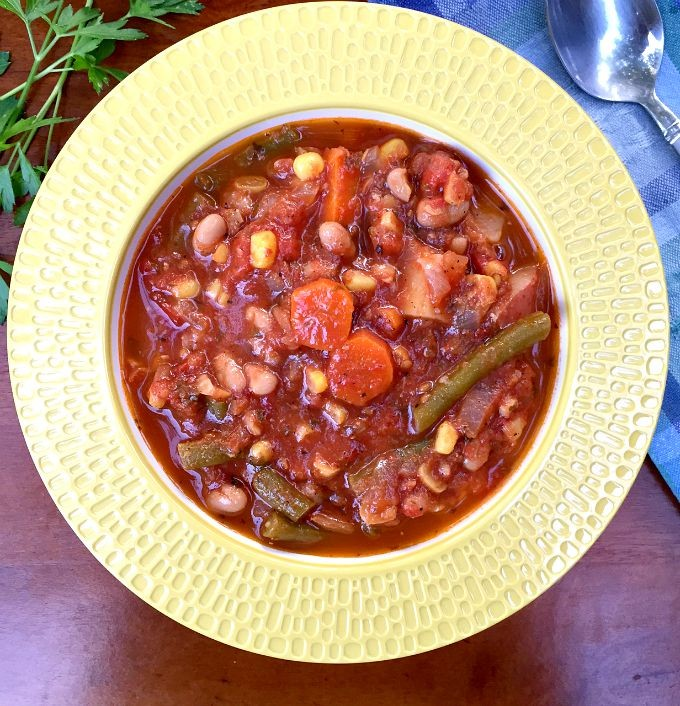 Roasted Tomato And Vegetable Soup Recipe: Hearty Vegetable Soup With Roasted Tomatoes