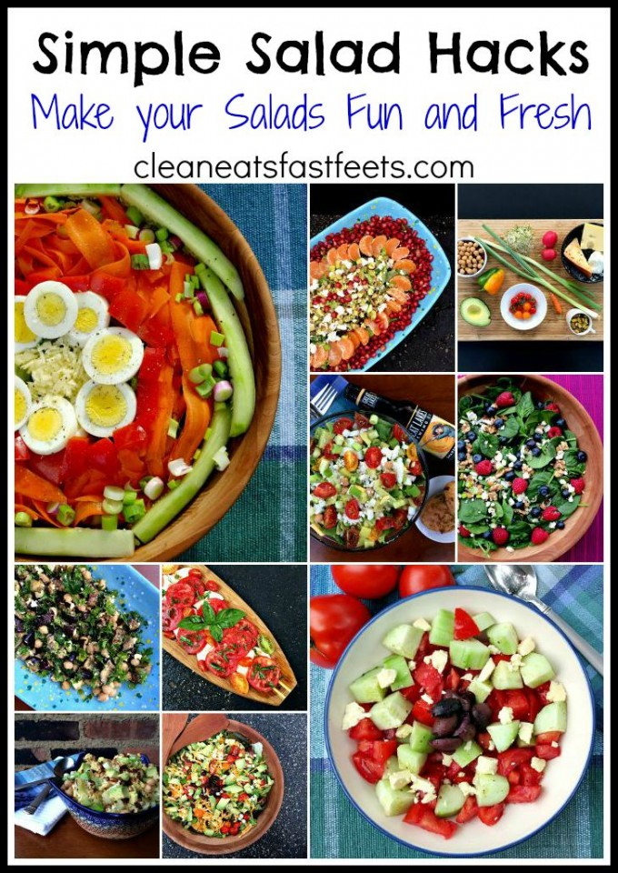 Simple Salad Hacks Guaranteed to Sway the Skeptics. Great ideas for keeping your salads fun, funky and fresh.