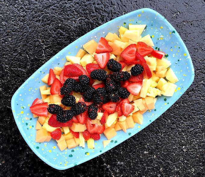 Fruit Platter - Pineapple, Canteloup, Strawberries and Blackberries