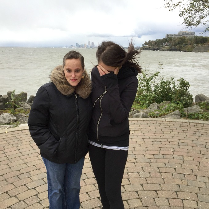Meg and Amanda Spoons in a Windstorm