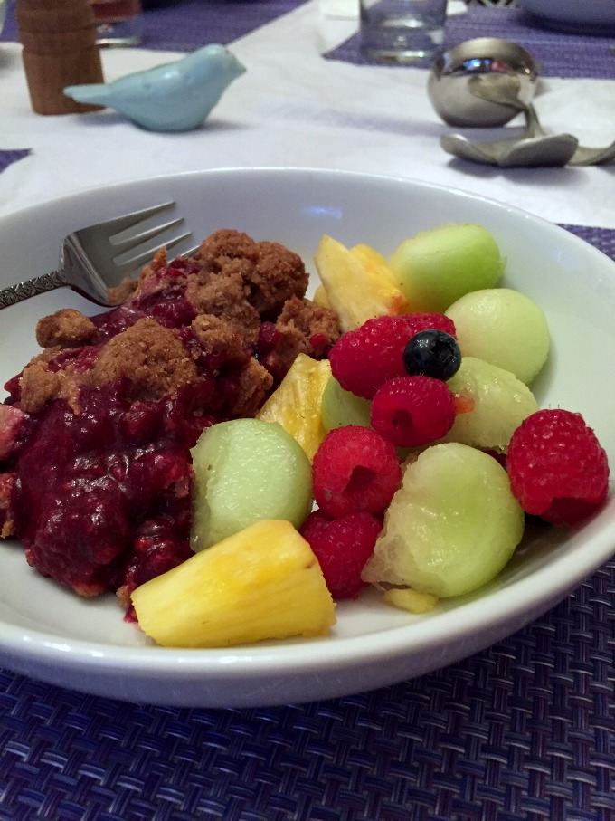 Mixed Berry Pie and Fresh Fruit