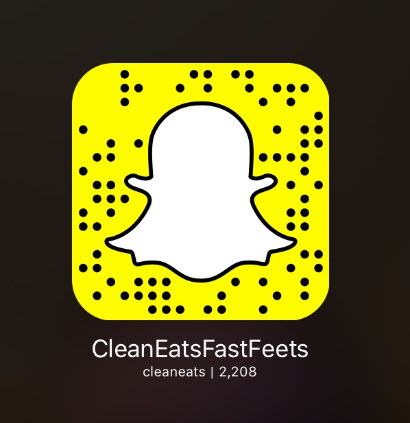 Clean Eats Fast Feets Snapchat