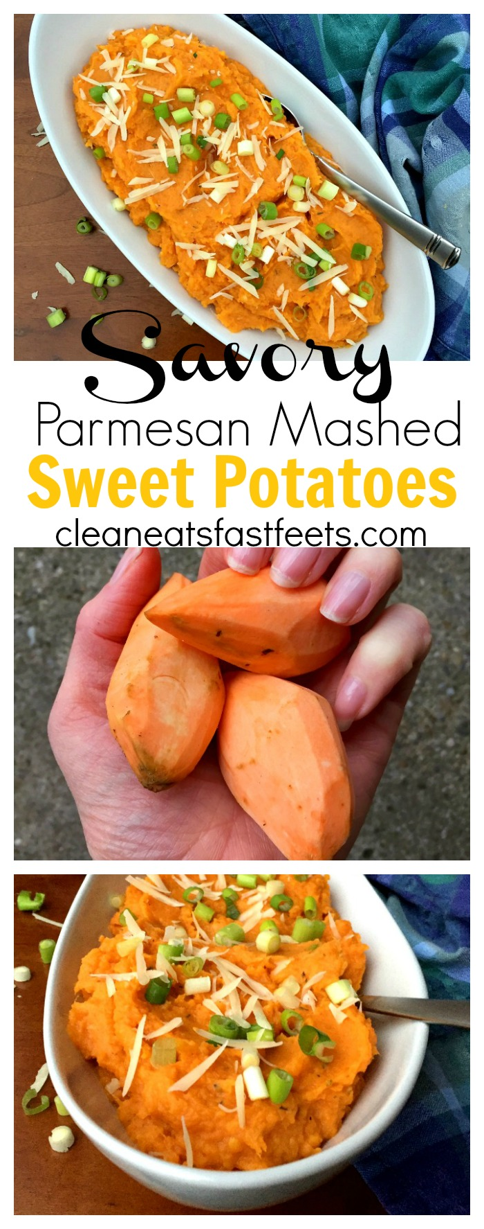 Savory Parmesan Mashed Sweet Potatoes. You want these on your table for Thanksgiving. You want these on your table for Christmas. You want these on your table, period. #thanksgiving #Christmas #sweetpotatoes #healthy
