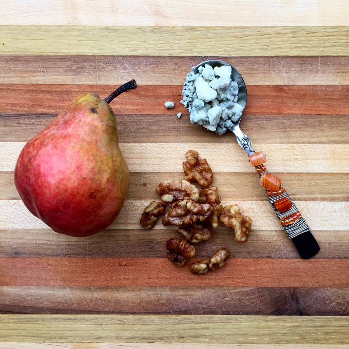 Ingredients - Pear, Blue Cheese and Candied Walnuts