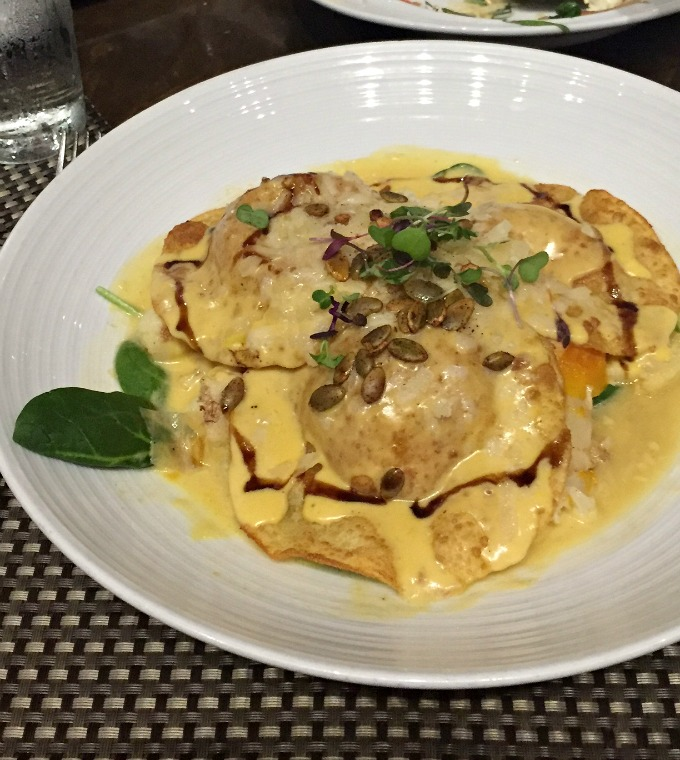 Pumpkin Ravioli at Crop