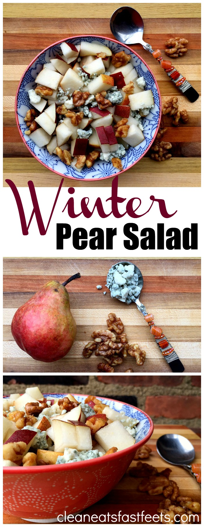With only three ingredients, this easy and elegant Winter Pear Salad will elevate your table this holiday season and make you the toast of the town, glitter and all.