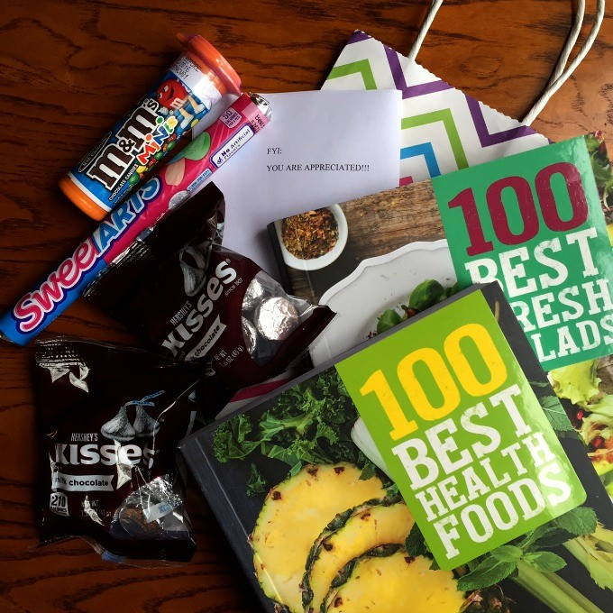 Coworker Suprise Gift - Healthy Food Books and Candy