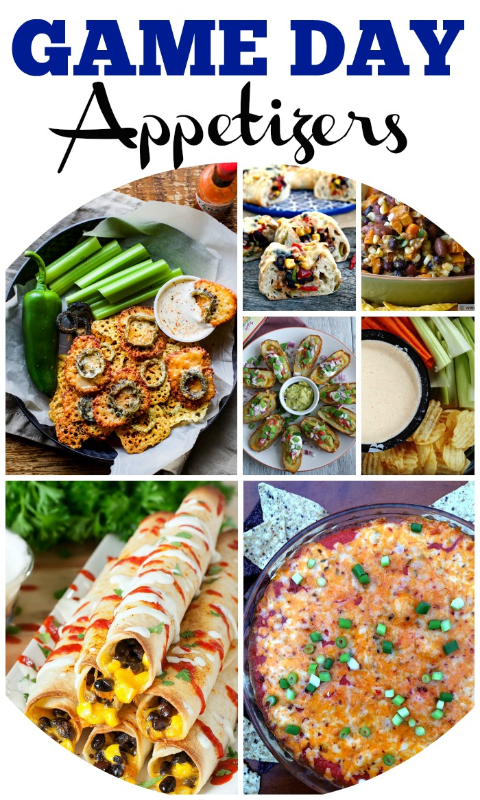 Game Day Appetizer Recipe Round Up
