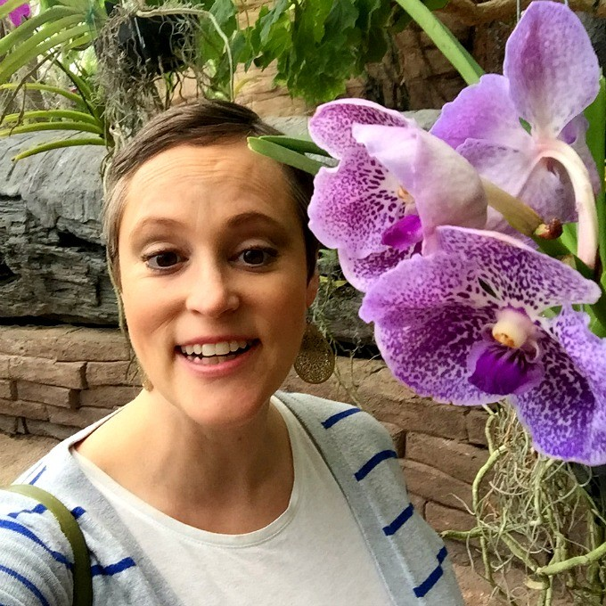 Meg at Orchid Mania 2016