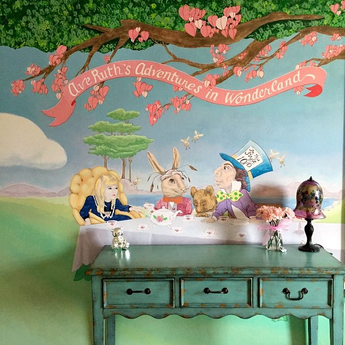 Ave Ruth Alice in Wonderland Mural