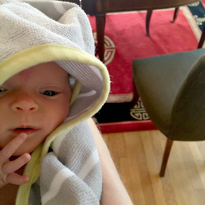 Ave's First Bath - Hooded Towel