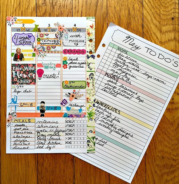 Planner Scapes Pages