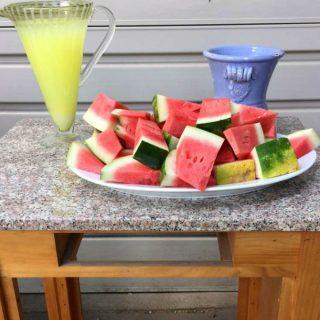 Barbecue Watermelon and Lemonade