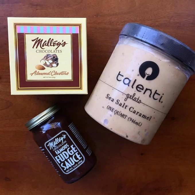 Malley's Chocolates, Hot Fudge and Talenti Gelato