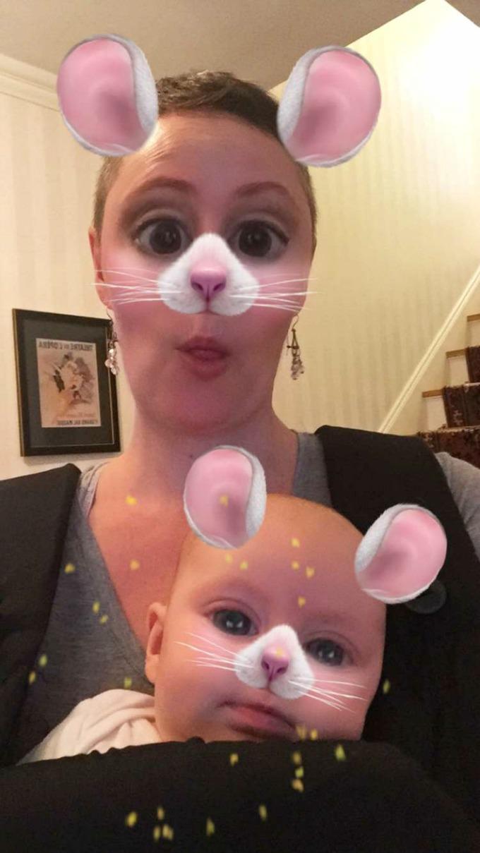 Meg and Ave as Bunnies