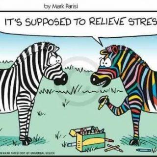 Adult Coloring Comic - Zebras