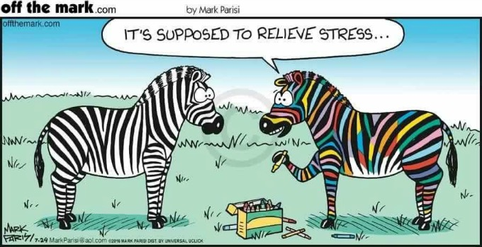 Adult Coloring Comic - Zebras