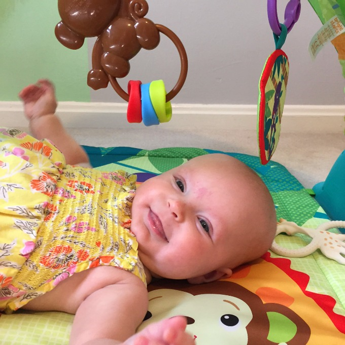 Ave on the Playmat - Four Months