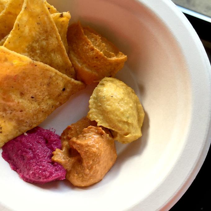 Darista Dips Five Hummus Sampling
