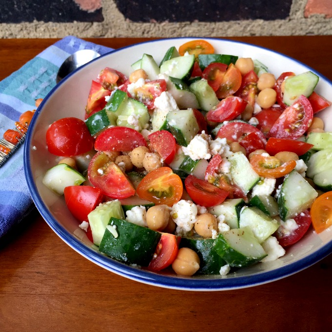 This Cucumber Tomato Salad with Feta is the perfect summertime fare ...