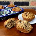 A hearty and healthy muffin, packed with oats and lightly sweetened with brown sugar and raisins.
