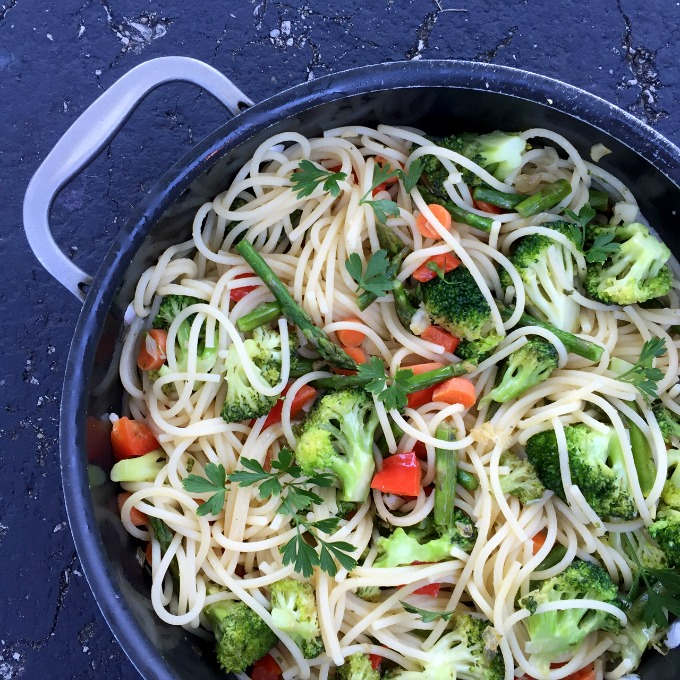 Veggie Pasta with Olive Oil