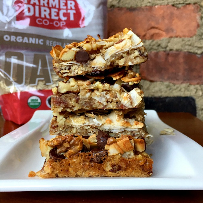 These sweet magic layer bars, packed with walnuts, chocolate and coconut, are irresistible and ooey gooey good.