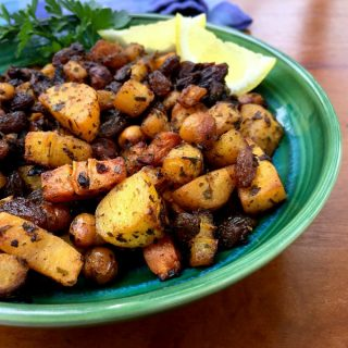 Moroccan Spiced Carrots with Chickpeas and Raisins